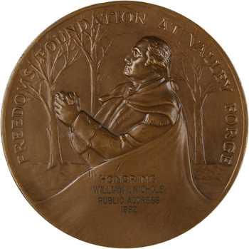 États-Unis, hommage de la Freedoms Foundatrion à Valley Forge, 1962 (N° C675) Pensylvanie