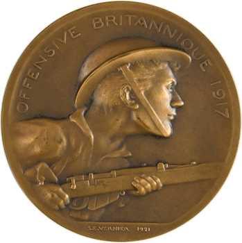 Vernier (S. É.) : l'offensive britannique de 1917 (hommage aux alliés), 1921 Paris