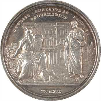 Vatican, Pie X, médaille annuelle, fondation de l'institut biblique, 1912 Rome