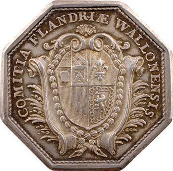 Flandre française, louis XVI, jeton des États de la Flandre wallonne, s.d. Paris