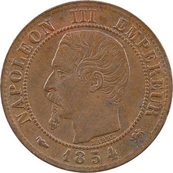 Second Empire, un centime tête nue, 1854 Lyon
