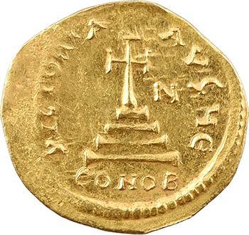 Héraclius et Héraclius Constantin, solidus, Constantinople, 5e officine, 610-641
