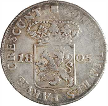 Pays-Bas, République batave, Utrecht, ducat (rijksdaalder), 1805 Utrecht