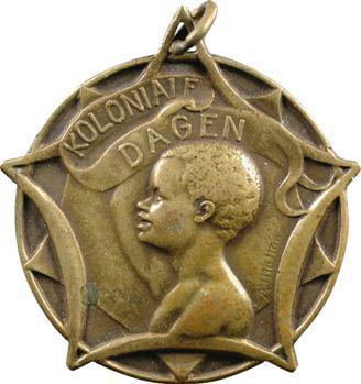 Belgique, Congo, médaille, koloniale dagen (jours coloniaux), s.d. (c.1925)