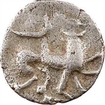 Turons, quinaire dit «à la cavalière», IIe-Ier s. av. J.-C.