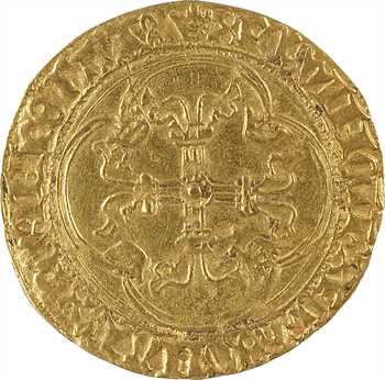 Charles VII, écu d'or à la couronne 3e type, 7e émission, Toulouse