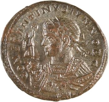 Constantin II, nummus, Trèves, 2e officine, 322