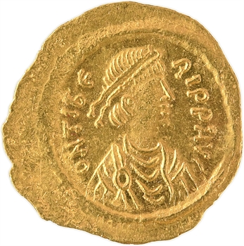 Maurice Tibère, trémissis, Constantinople, 585-586