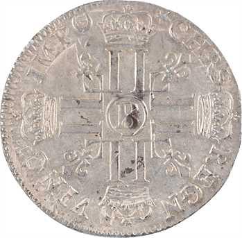 Louis XIV, quart d'écu aux huit L, 1er type, 1691 Rouen