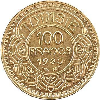 Tunisie (Protectorat français), Ahmed, 100 francs or, AH 1354 (1935) Paris