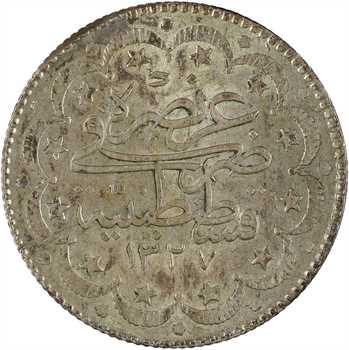 Turquie, Mohammed V, 5 kurush, AH1327/6 (1914) Constantinople
