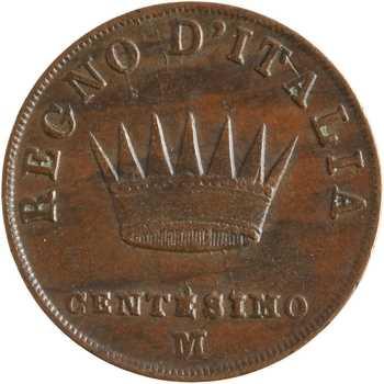 Italie, Napoléon Ier, centesimo 2e type, 1813 Milan