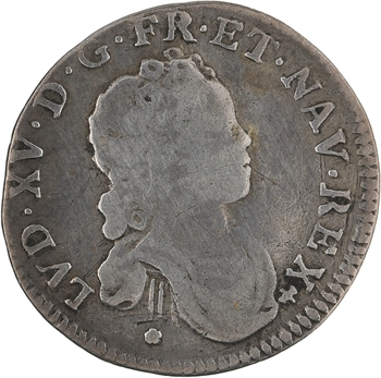 Louis XV, dixième d'écu dit Vertugadin, 1716 Dijon