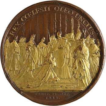Louis XV, sacre à Reims le 25 octobre 1722, par Duvivier et Blanc, 1722 Paris, rehaussée d'or