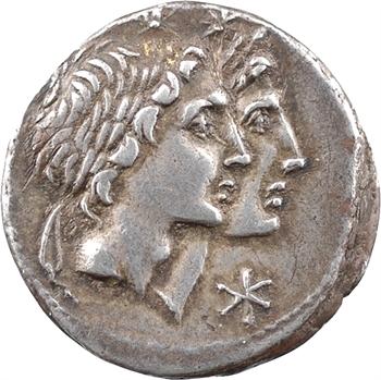 Fonteia, denier, Rome, 114-113 av. J.-C.