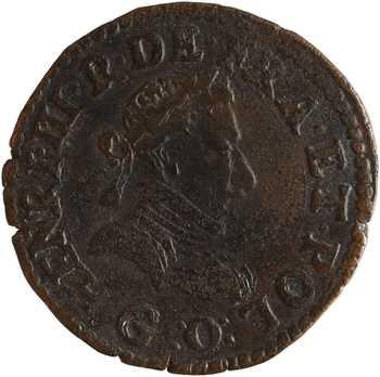 Henri III, double tournois, 1581 Poitiers