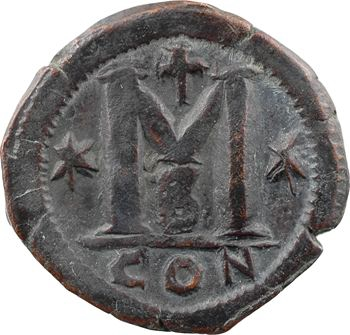 Anastase, follis, Constantinople, 2e officine, 491-518