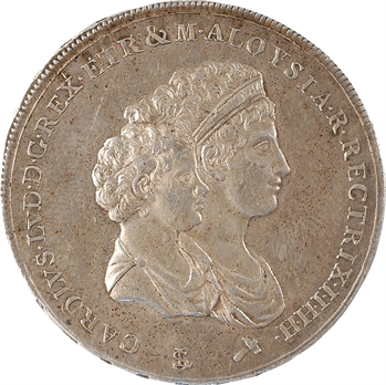 Italie, Étrurie (royaume d'), Charles-Louis, demi-dena, 1804 Florence