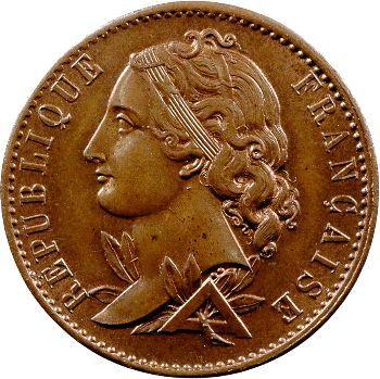 IIe République, essai de 10 centimes par Magniadas, 1848 Paris