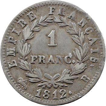 Premier Empire, 1 franc Empire, 1812 Rouen