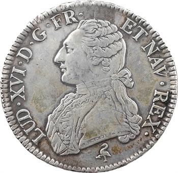 Louis XVI, écu aux branches d'olivier, 1777 Paris