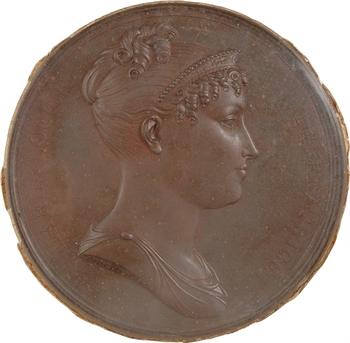 Premier Empire, l'Impératrice Marie Louise (mariage avec Napoléon), cliché uniface, par Andrieu, s.d. Paris