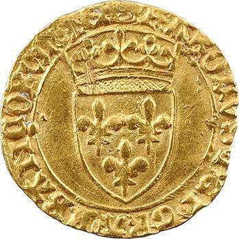 Charles VII, demi-écu d'or à la couronne, 6e émission, Paris