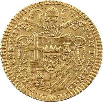 Vatican, Clément XIII, demi-sequin d'or, 1758 Rome