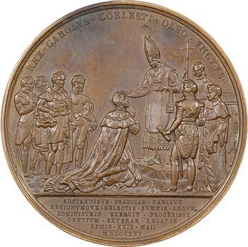 Charles X, sacre à Reims le 29 mai 1825, par Gatteaux, 1825 Paris