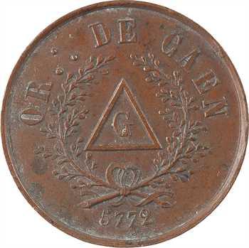 Second Empire, Orient de Caen, loge Saint Jean de Thémis, 5772 (après 1860) Paris
