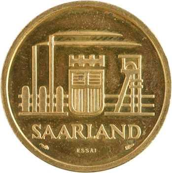 Allemagne, Sarre, essai de 50 francs, 1954 Paris