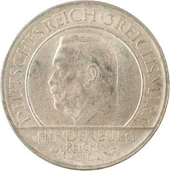 Allemagne, 3 reichsmark, 1929 Hambourg