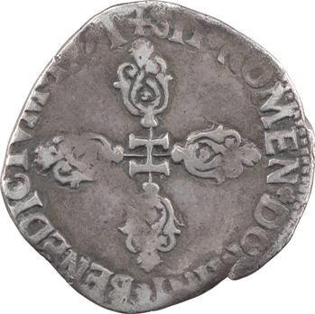 Henri IV, demi-franc, 1er type, 1591 Bordeaux