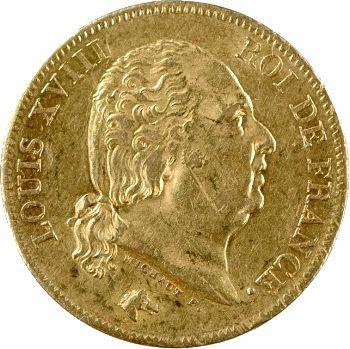 Louis XVIII, 40 francs, 1817 Paris