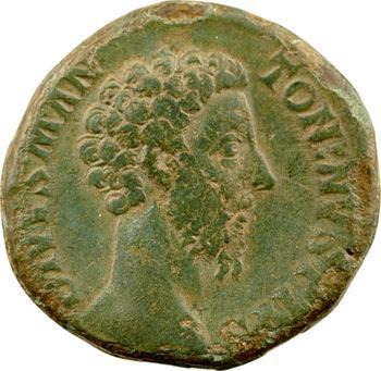 Divin Marc Aurèle, sesterce, Rome, 180 (consécration de Commode)