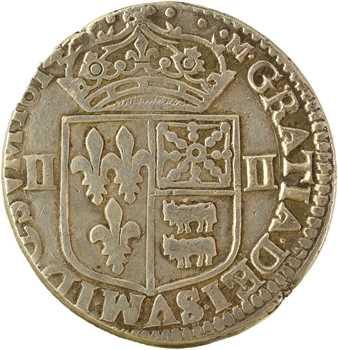 Louis XIII, quart d'écu de Béarn, 1614 Pau