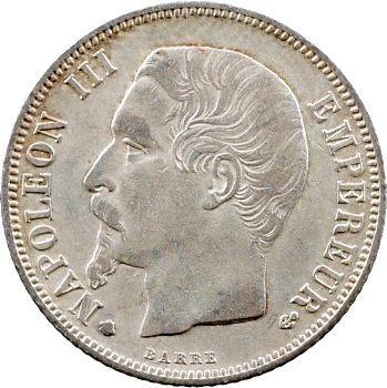 Second Empire, 1 franc tête nue, 1860 Strasbourg