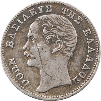 Grèce (Royaume de), Othon, 1/4 de drachme, 1855 Paris