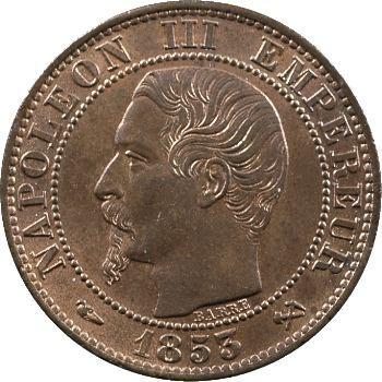 Second Empire, cinq centimes tête nue, 1853 Rouen