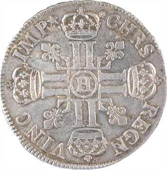 Louis XIV, écu aux huit L, 1er type, 1692 La Rochelle