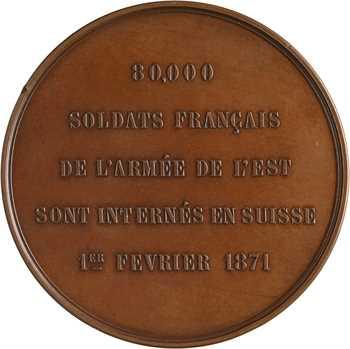 Suisse, internement de 80.000 soldats français, par Landry, 1871 Neuchâtel