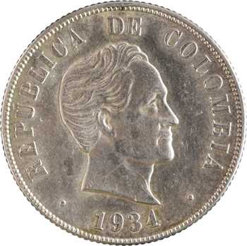 Colombie (États-Unis de), 50 centavos, 1934 San Francisco