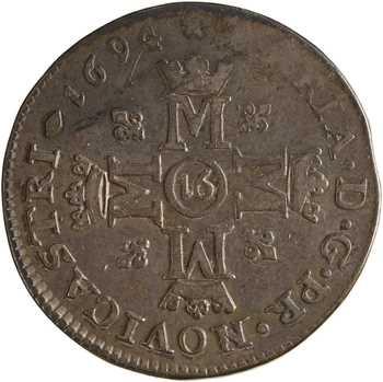 Suisse, Neuchâtel (Principauté de), Marie de Nemours, 16 kreuzer, 1694