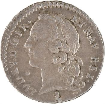 Louis XV, vingtième d'écu au bandeau, 1766 Paris