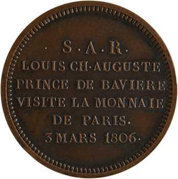 Premier Empire, module de 2 francs, visite de Maximilien I Joseph, 1806