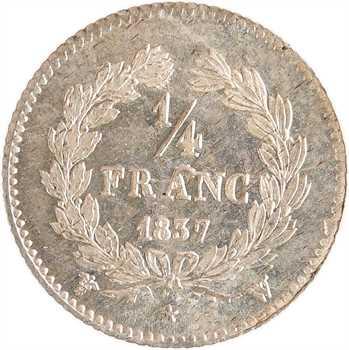 Louis-Philippe Ier, 1/4 franc, 1837 Lille