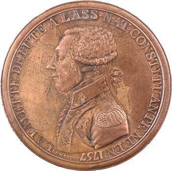 Constitution, essai des frères Monneron à l'effigie de Lafayette, 1791