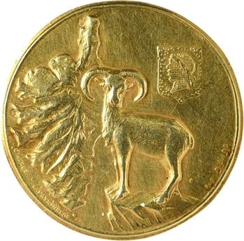 Madagascar / libération de la Corse, médaille de l'Association des Corses de Madagascar, 1943 (1945), Tananarive ? N° 105