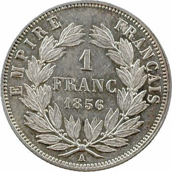 Second Empire, 1 franc tête nue, 1856 Paris