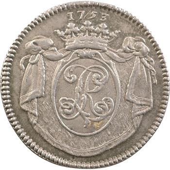 Poitou, L.-A. de La Rochefoucauld de Roye, jeton argent, 1753 Paris